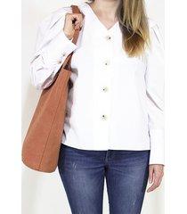 shopper bag xl pomarańczowa torba z bawełny