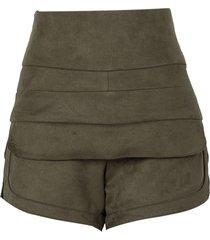 shorts le lis blanc polly ii verde feminino (riad, 50)
