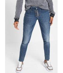 skinny jeans met knoopjes
