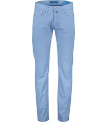 pierre cardin 5-pocket broek stretch lichtblauw