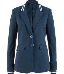 blazer in jersey di cotone con dettagli a righe (blu) - bpc bonprix collection