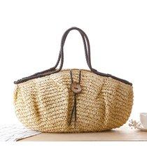 2017 new vintage summer beach bag bucket straw bags for women handmade handbags