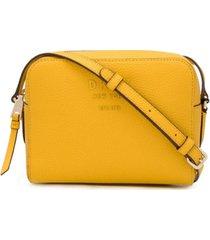 dkny bolsa transversal com placa de logo - amarelo