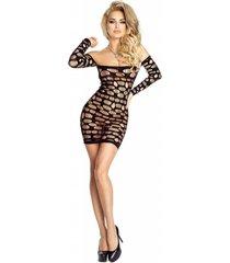 provocative gewaagde zwarte dots jurk.
