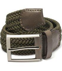 cinturón trenzado verde militar doshka