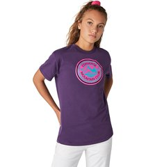 converse camiseta de manga corta center front mountain club relaxed para mujer