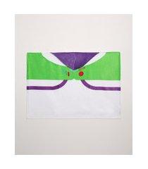 toalha de banho infantil buzz lightyear com capuz branca