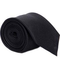 gravata slim maquinetada quadriculada - preto