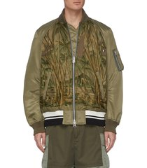 jungle embroidered ma-1 bomber jacket