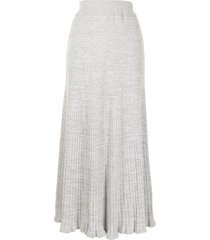 anna quan selma knit skirt - grey