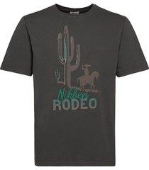 big rodeo tee t-shirts short-sleeved svart nikben