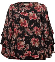 printed flared blouse blouse lange mouwen multi/patroon by ti mo