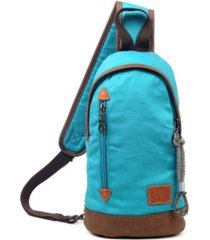 tsd brand urban light coated canvas sling bag