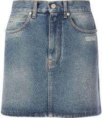 off-white denim mini skirt