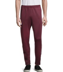 cult of individuality men's side-striped breakaway track pants - burgundy - size xl