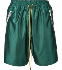 rhude casual track shorts - green