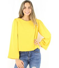 blusa antonia mostaza jacinta tienda