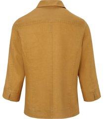 blouse van 100% linnen met 3/4-mouwen van peter hahn geel