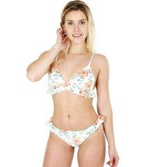 bikini con vuelos menta h2o wear