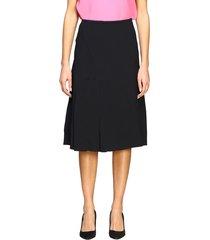 n° 21 skirt n ° 21 wide skirt in fluid cady