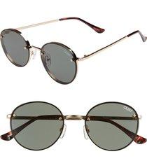men's quay australia farrah 50mm round sunglasses -