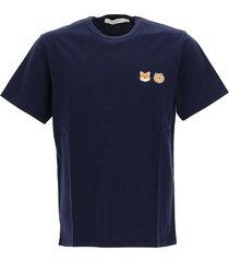 maison kitsuné x line friends logo-patch cotton t-shirt