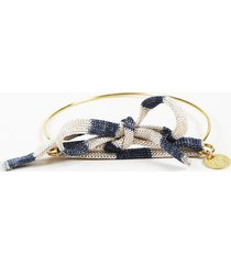 missoni m gold tone blue tie bracelet blue/gold sz: