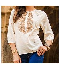 cotton top, 'majestic gold' (india)