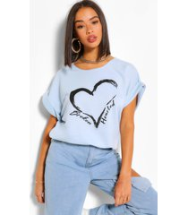 broken hearted batwing sweat top, blue