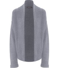 casaco feminino tricot antique - cinza