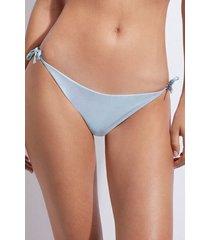 calzedonia brazilian string bottom swimsuit malibù woman light blue size 2