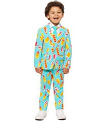 boy's opposuits cool cones two-piece suit with tie (toddler, little boy & big boy)