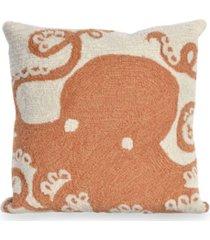 "liora manne frontporch octopus indoor, outdoor pillow - 18"" square"