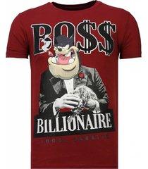 billionaire boss - rhinestone t-shirt