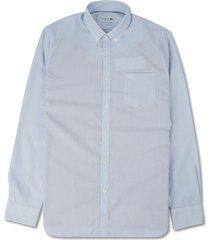 regular fit gestreept overhemd met lange mouwen voor heren