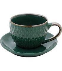 conjunto com 4 xícaras para café snake 90ml rojemac verde