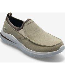 mens delson 3.0 loafers låga skor brun skechers