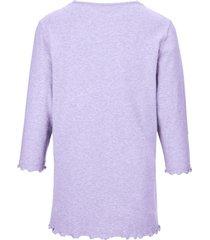 pyjama 100% katoen 3/4-mouwen van peter hahn paars