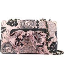 chanel pre-owned 2019 scarf ribbon shoulder bag - pink