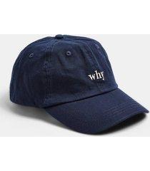 mens black blue unstructured cap