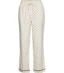 dotted rest pants lingerie trousers straight leg crème moshi moshi mind