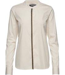 maggie golden shirt blouse lange mouwen crème mos mosh