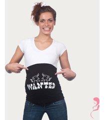 op en top zwanger zwangerschaps buikband wanted twins zwart