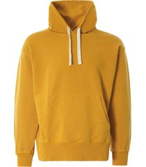 nigel cabourn embroidered arrow hoodie   racing gold   ncj-55 gld