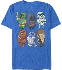 star wars men's classic cute cartoon characters short sleeve t-shirt