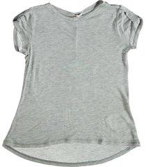 replay lichtgrijs shirt met strass op de rug