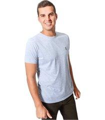 camiseta cuello redondo bordado en frente jack supllies para hombre - gris