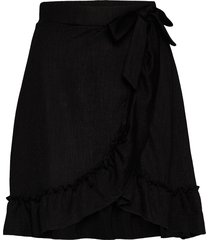 peg skirt knälång kjol svart gina tricot
