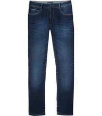 calça dudalina jeans washed blue cross masculina (jeans escuro, 50)