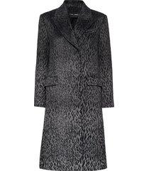 karl x carine leopard coat yllerock rock grå karl lagerfeld